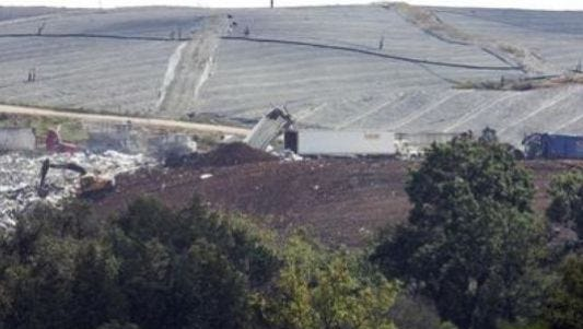 Garbage haulers dump trash at Middle Point Landfill off East Jefferson Pike north of Murfreesboro.