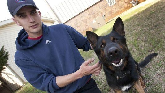 Greer Police Officer Jordan Williams' canine partner is a German shepherd named Boss.