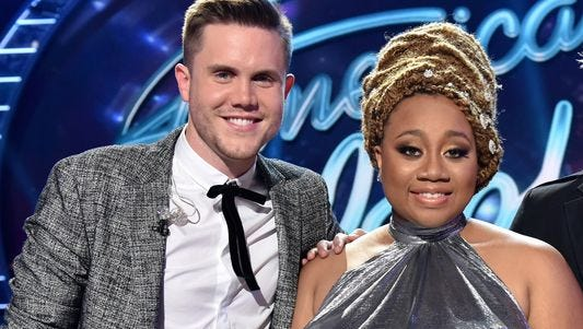 """Trent Harmon and La'Porsha Renae are the top two finalists on """"American Idol."""""""