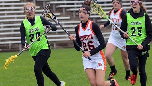 Brighton's Hannah Kelley led the Dogs with four goals in their win over Waterford on Wednesday,