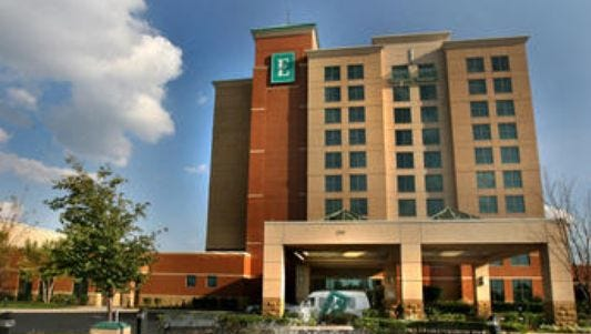 This Embassy Suites Hotel and Conference Center is off Medical Center Parkway near Interstate 24 in Murfreesboro.