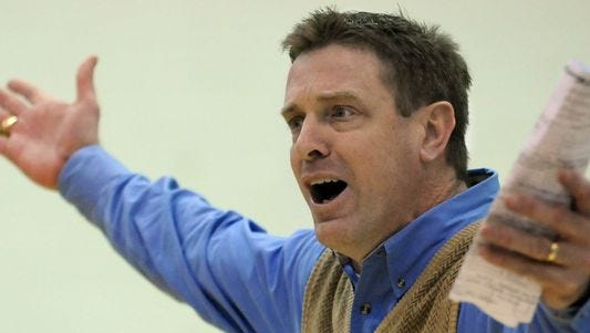 Jim Sanderson, shown here coaching Faulkner University, is the new Freed-Hardeman men's basketball coach.