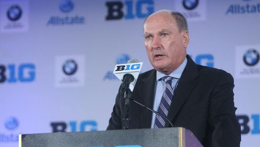 Commissioner Jim Delany watched MSU defeat Nebraska at the Big Ten baseball tournament Wednesday in Omaha, Nebraska. Delany raved about the health and success of the league's baseball programs.