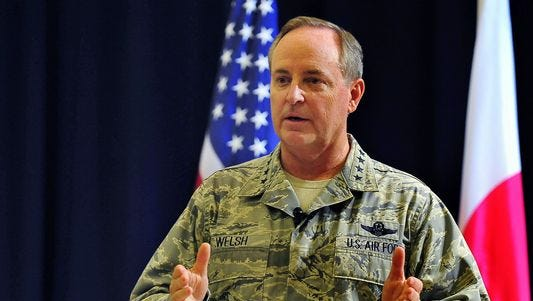 Air Force Chief of Staff Gen. Mark A. Welsh, who will retire in July, said the service needs tens of thousands more airmen to become fully manned in today's fast-paced environment.