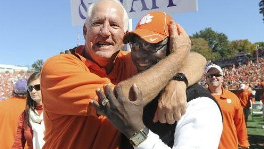 Danny Ford (left), led Clemson to the 1981 national title with a 12-0 record.