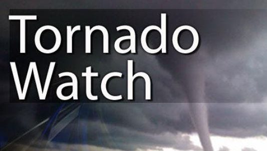 A tornado watch is in effect for Larimer County and most of Northern Colorado until 8 p.m. Monday.