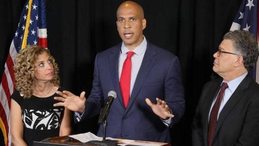 U.S. Sen. Cory Booker (center) will be part of a discussion on criminal justice reform Thursday in Camden.