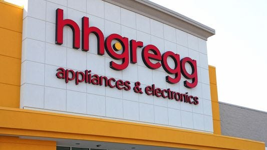 The hhgregg store at 4585 S. 76th St. in Greenfield.