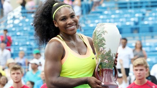 Two-time defending champion Serena Williams withdrew from the Western & Southern Open after a Monday practice at the Lindner Family Tennis Center. She said she has been battling shoulder inflammation.