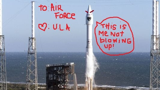 ULA threw some shade at SpaceX pointing out their recent mishap when submitting a bid for an U.S. Air Force contract.