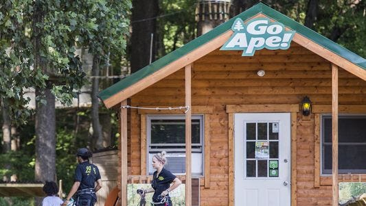 "The Go Ape zip line course  in Lums Pond State Park is closed April 24 following the death of Tina Werner, who fell about eight feet. A report says the death was caused by ""operator error."""