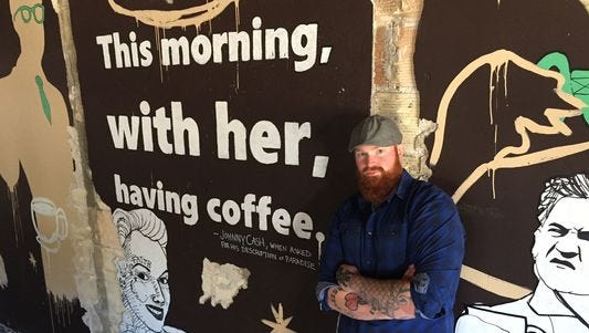 Justin Hartig will offer coffee cocktails at the Crafted Bean Coffee Co. in downtown DeWitt. It is expected to open in December.