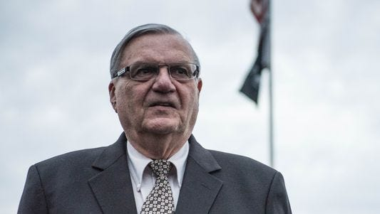 Outgoing Maricopa County Sheriff Joe Arpaio, who was defeated by Paul Penzone on Nov. 8.