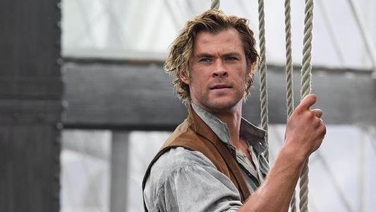 "Chris Hemsworth in a still from his newest movie ""In the Heart of the Sea,"" will star in the upcoming ""Horse Soldiers"" movie to be filmed in New Mexico."