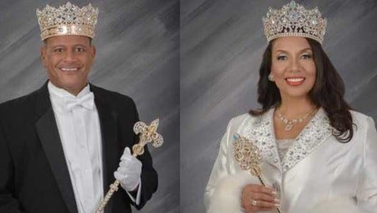 Adonis Expose' and Donna Marie Glapion, both UL alums, will reign as King and Queen Zulu this year.