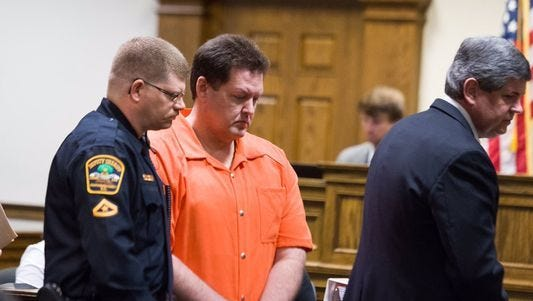 Todd Kohlhepp leaves the courtroom after being sentenced to 7 consecutive life prison terms
