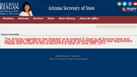 An online system for collecting signatures for candidates to get on the ballot had been delayed.