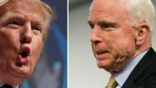 President Donald Trump and Sen. John McCain