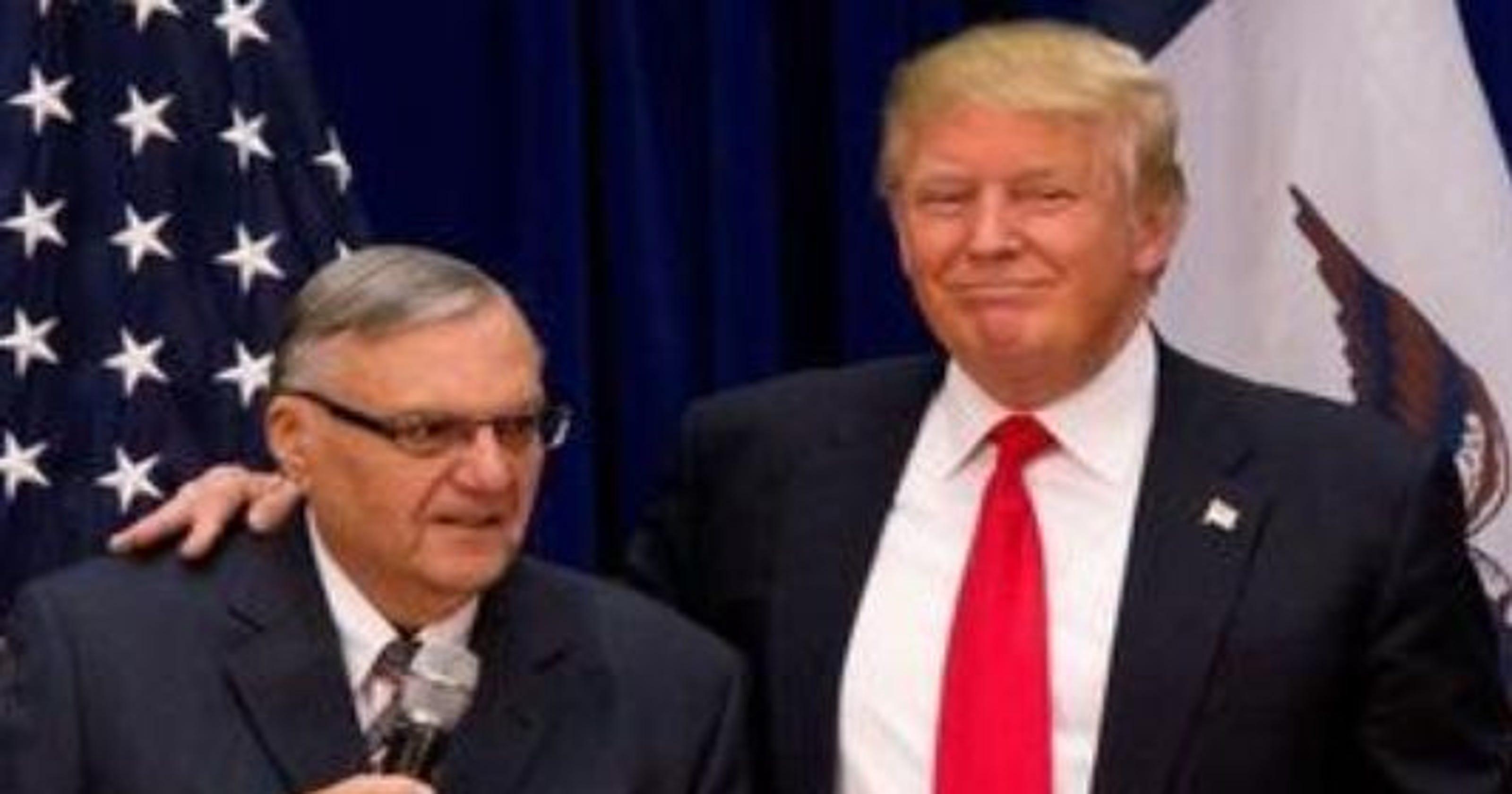 Joe Arpaio dice que aceptara perdón del Presidente Donald Trump