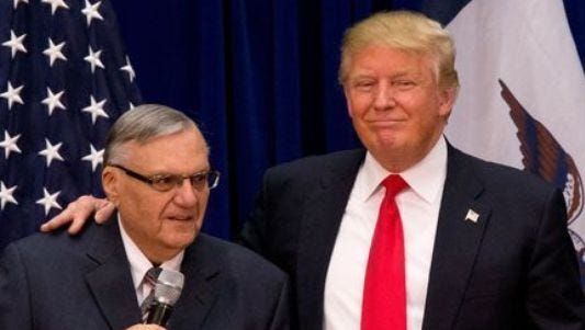 Pals. Sheriff Joe Arpaio. Donald Trump.