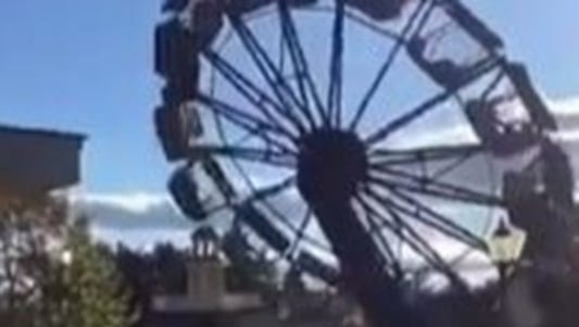 Multiple injuries reported at Darien Lake after this ride was coming to a stop.