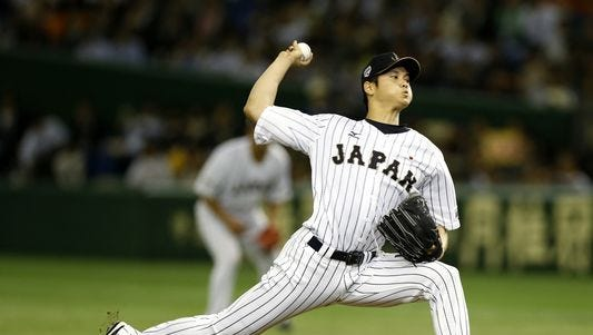 2015: Shohei Ohtani was dominant in his performance against South Korea at the Premier12 world baseball tournament at Tokyo Dome.
