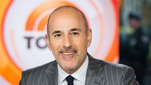 """Matt Lauer, longtime host of the """"Today"""" show, was fired by NBC after an allegation of sexual misconduct."""