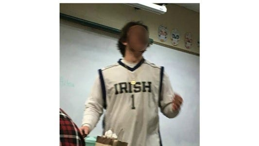 A Forest Hill Northern High School student photographed in alleged 'blackface' makeup on Thursday, Feb. 1.