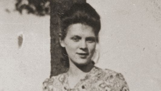 """Aida Zasadsinska, shown here right after World War II, is reluctant to discuss her tangled family history during her later years in """"Aida's Secrets."""""""