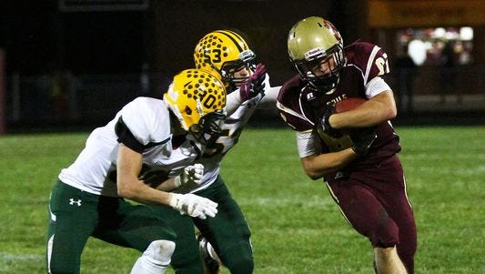 Lincoln's Logan Garrels set a state record with 340 yards receiving.