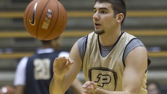 Purdue freshman guard Dakota Mathias has earned praise from coach Matt Painter for his passing.