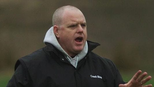 Le Roy football coach Brian Moran.