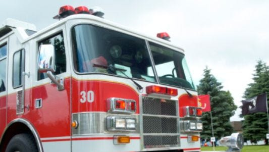 A garage was damaged in a fire early Monday morning in Stevens Point. No one was injured.