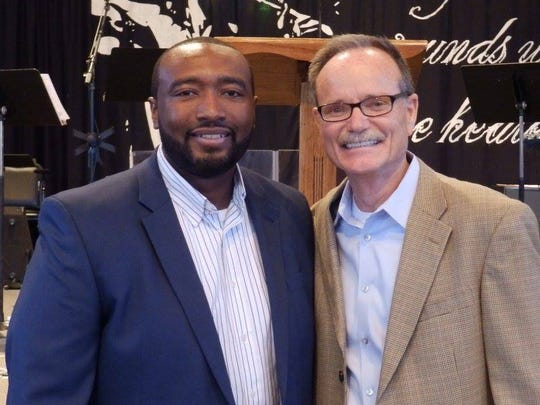 Southside Baptist Church co-pastors Reggie Glenn (left)
