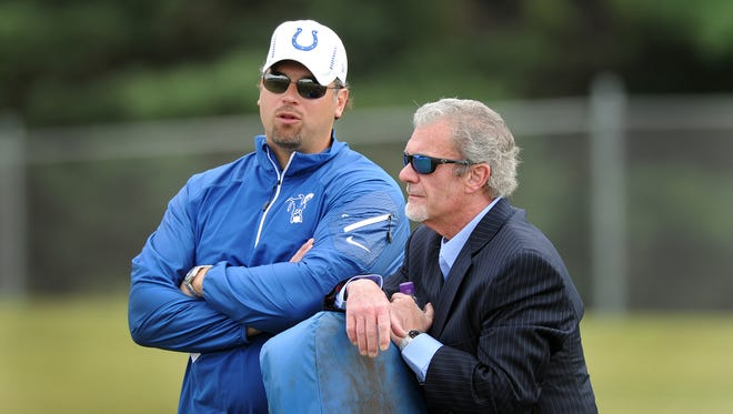 """""""The heaps of criticism that has fallen on Ryan Grigson, it is so unjust,"""" Jim Irsay said this year."""