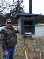 Pecan Valley Kiwanis Club member Don Holland completes