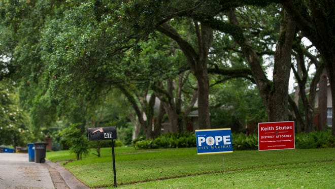 According to Article 4 of the Lafayette Zoning Ordinance, campaign yard signs are prohibited until July 23, 90 days prior to voting.