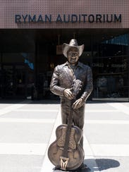 A statue of Little Jimmy Dickens was unveiled outside