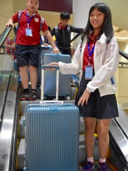 Chinese children arrive for a visit to Middle Tennessee