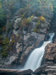 """""""The Linville Gorge Wilderness area includes a deep"""