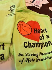 Shelly Church and her family and friends plan to wear this T-shirt during the annual Collier County Heart Walk at Cambier Park this Saturday in honor of her son Kyle Fernstrom who died 12 years ago at age 18 from a heart condition.The mom and son duo started volunteering with the American Heart Association in 1996. Church continues their work by raising money every year for the annual Heart Walk. This year, she hit her $1 million milestone of fundraising for heart disease research and awareness.