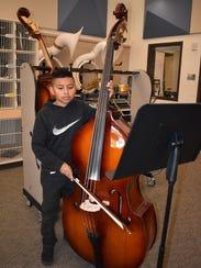 Hawkins Middle School seventh-grade student Pedro Hernandez