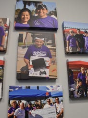 Photos of past epilepsy walks in Naples adorn the new