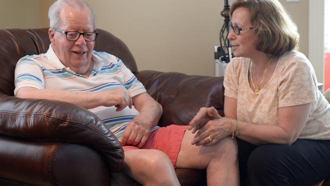 Debby White retired early to take care of her husband Jack, who has Lewy body disease, one of several chronic conditions the family is juggling.