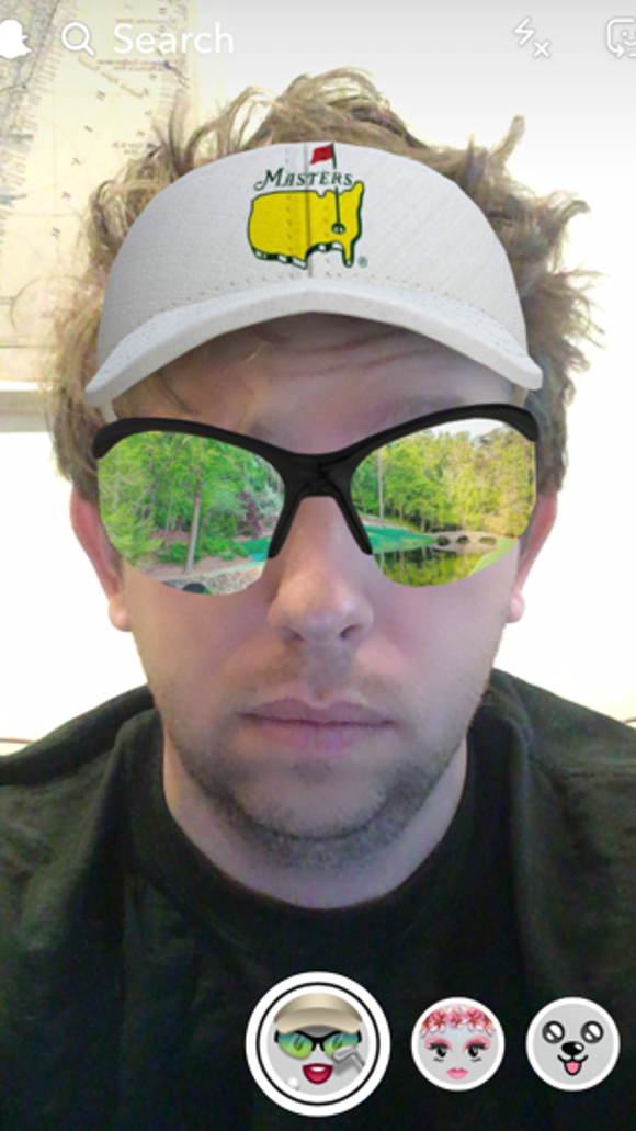 The Masters has a new Snapchat lens and it's predictably awesome