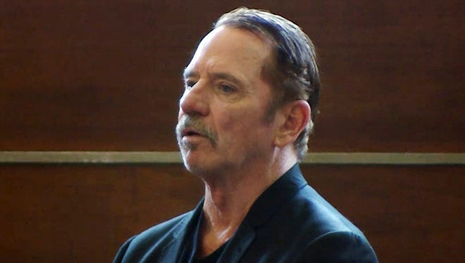 Tom Wopat at his arraignment on Aug. 3 in Waltham, Mass., on indecent assault and battery and drug possession charges, in image taken from video.