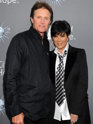 Bruce Jenner, Kris Kardashian arrive for the City of Hope honoring Shelli And Irving Azoff with the 2011 Spirit of Life award at Universal Studios Hollywood on May 7, 2011 in Universal City, California.