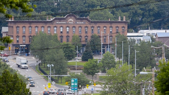 The City of Winooski has launched a project to define its brand and to develop a marketing plan. The Winooski Block is seen from Burlington on Friday, June 30, 2017.