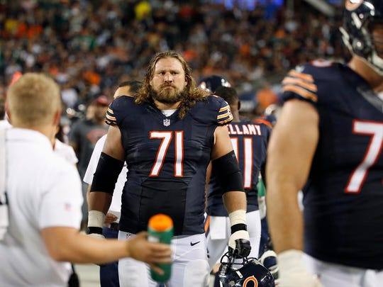 Pensacola's Josh Sitton (71) is playing in Sunday's NFL Pro Bowl for the fourth time and first with the Chicago Bears. The Catholic HIgh grad was added to the NFC roster Monday, as replacement for injured former teammate T.J. Lang of the Green Bay Packers.
