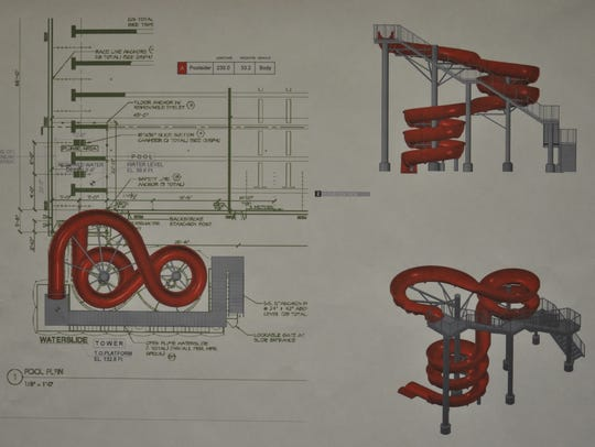 The slides that will be constructed for the new Aquatic